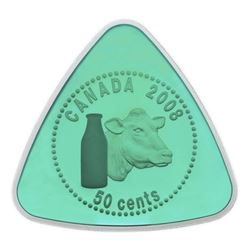 925 Sterling Silver 50 Cent Triangle Coin - Milk Delivery