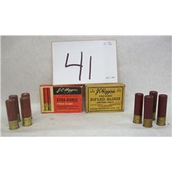 J.C HIGGINS SHOT GUN SLUGS 16 AND 20 GAUGE