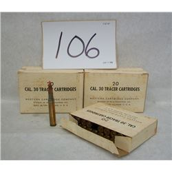 100 RDS WINCHESTER MILITARY TRACER 30-06