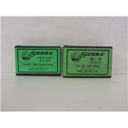 SIERRA 6.5MM AND 30-30CAL BULLETS