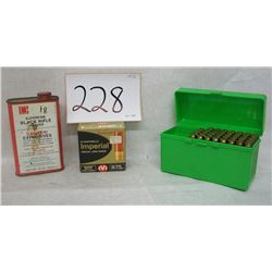 7MM REM MAG AMMO, BLACK POWDER 20 GAUGE LOT