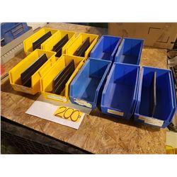 "Plastic Bin 5""1/2 x 11"" for 10 Yellow or blue"