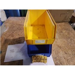"Plastic Bin 8"" x 14"" for 50 Yellow (some blue left)"