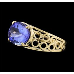 1.50 ctw Tanzanite Ring - 14KT Yellow Gold