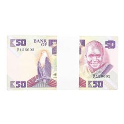 Pack of (99) Zambia 50 Kawacha Uncirculated Notes