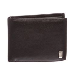 Dunhill Black Leather Bi Fold Wallet