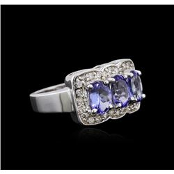 14KT White Gold 2.52 ctw Tanzanite and Diamond Ring