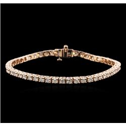 14KT Rose Gold 4.65 ctw Diamond Tennis Bracelet