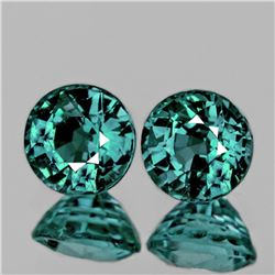 Natural Brilliant Greenish Bluish Sapphire Pair  - FL
