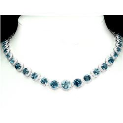 Natural London Blue Topaz 135 Carats Necklace