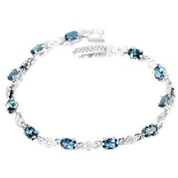 Natural AAA LONDON BLUE TOPAZ  Bracelet