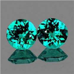 Natural Paraiba Blue/Green Apatite Pair 6.50 mm - VVS