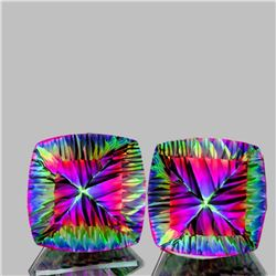Natural Concave Cushion Mystic Topaz 30.25 Cts - If