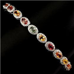 Natural Fancy Multi Color Sapphire Bracelet