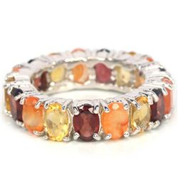 NATURAL MULTI COLOR FIRE OPAL GARNET CITRINE Ring