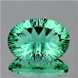Natural Paraiba Green  Fluorite 34.18 Ct - Flawless