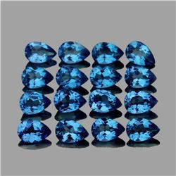 Natural Santa Maria Blue Aquamarine Pear 4x3 MM VVS
