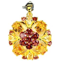 NATURAL MULTI COLOR CITRINE & GARNET Pendant
