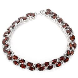 NATURAL AAA DARK ORANGE RED GARNET Bracelet