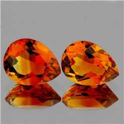 Natural AAA Madeira Orange Citrine Pair 10x7 MM - FL