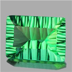 Natural ConCave Cut Emerald Green Fluorite 18.17 Cts