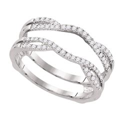 0.33 CTW Diamond Wrap Ring 14KT White Gold - REF-48F7N