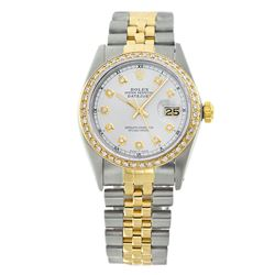 Rolex Pre-owned 36mm Mens White with Tracker Two Tone - REF-610R3M