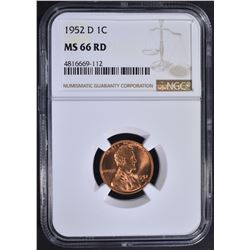 1952-D LINCOLN CENT NGC MS66RD