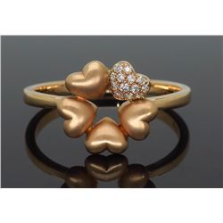 14KT Rose Gold 0.05ctw Diamond Ring
