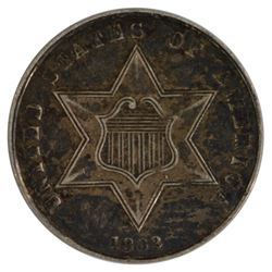 1862 Three Cent Silver Coin