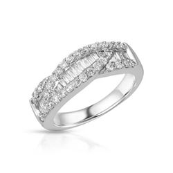 18KT White Gold 0.93ctw Diamond Ring
