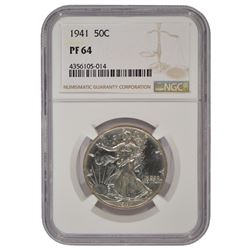 1941 Walking Liberty Half Dollar Coin NGC PF64