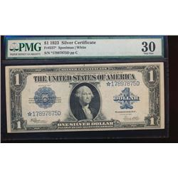 1923 $1 Silver Certificate Star Note PMG 30