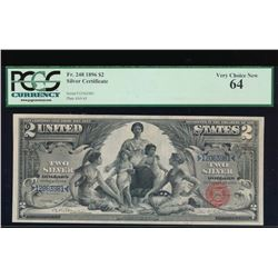 1896 $2 Silver Certificate PCGS 64