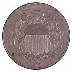 1868 Shield Nickel Coin