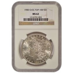 1900-O/CC $1 Morgan Silver Dollar Coin NGC MS62