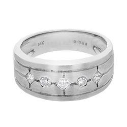 14KT White Gold 0.31ctw Diamond Ring