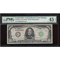 1934A $1000 Chicago Federal Reserve Note PMG 45EPQ