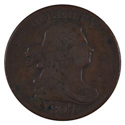 1807 Draped Half Bust Cent Coin