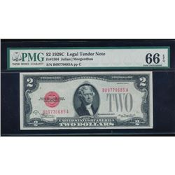1928C $2 Legal Tender Note PMG 66EPQ