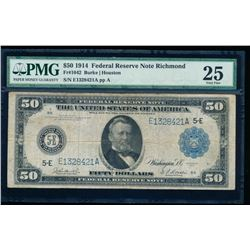 1914 $50 Richmond Federal Reserve Note PMG 25