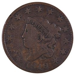 1819/8 Coronet Large Cent Coin