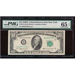 1950D $10 New York Federal Reserve Note PMG 65EPQ