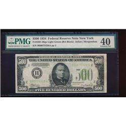 1934 $500 New York Federal Reserve Note PMG 40