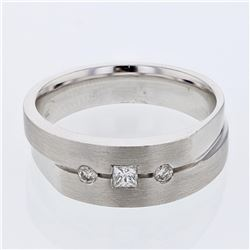 14KT White Gold 0.28ctw Diamond Ring
