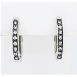 14KT White Gold 0.25ct Diamond Earrings