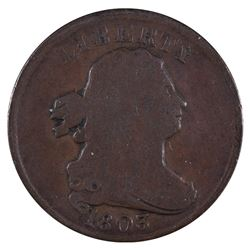 1803 Liberty Draped Bust Half Cent Coin
