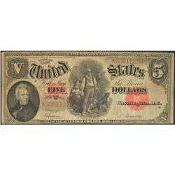 1907 $5 Legal Tender Note