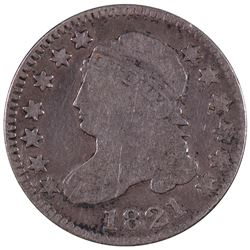 1821 Large Date Capped Bust Dime Coin