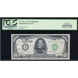 1934 $1000 Boston Federal Reserve Note PCGS 65PPQ